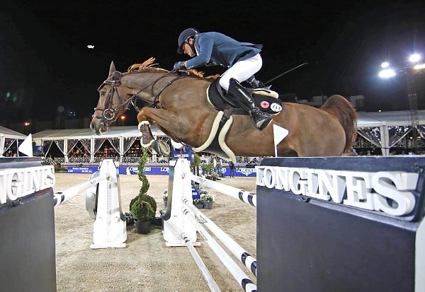 Simon Delestre and Ryan Des Hayettes during the Global Champions Tour in Antwerp earlier this year.