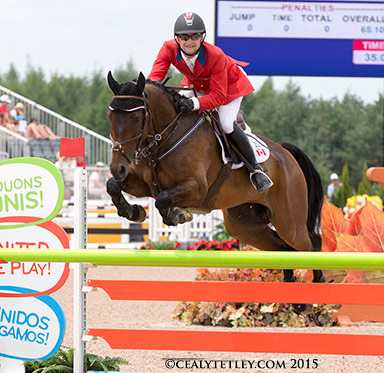 Canada's Waylon Roberts of Port Perry, Ontario, finished 17th individually riding the Canadian Sport Horse, Bill Owen.