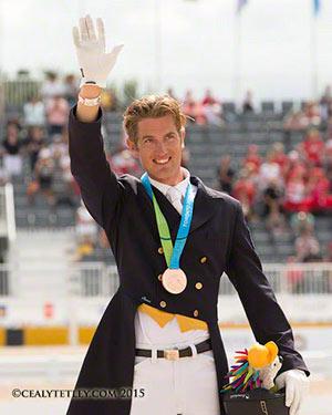 Individual bronze medalist Chris von Martels of Ridgetown, Ontario.