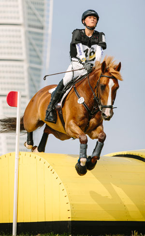 Individual eventing winner Calvin Böckmann (GER) and Askaban B.