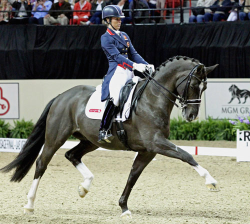Charlotte Dujardin and Valegro at the 2015 Reem Acra FEI World Cup Final.