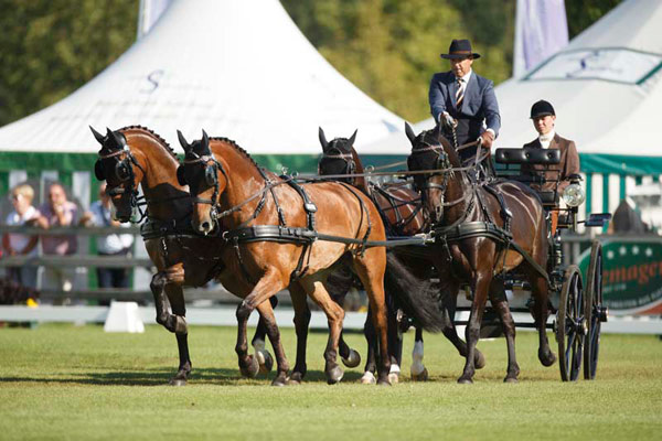 IJsbrand Chardon has won the dressage phase of the FEI European Driving Championships for Four-in-Hand 2015 in Aachen. All eyes are now on the second phase, the cones, before the European individual and team champions are crowned after the marathon stage on Saturday, August 22.