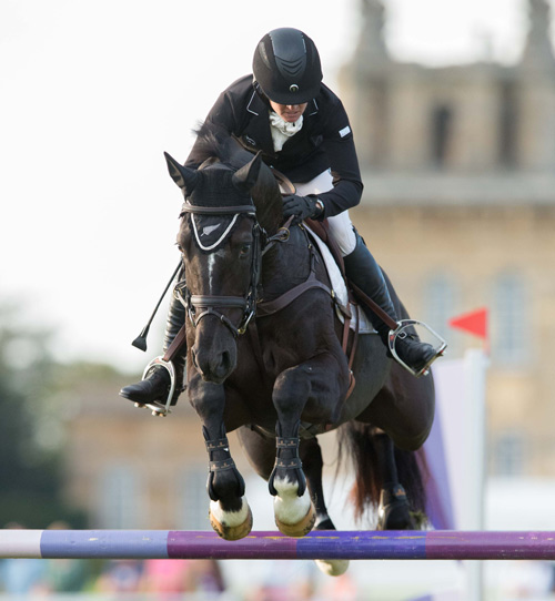 Jonelle Price and Cloud Dancer II lead in the CIC3* for eight- and nine-year-old horses at the Blenheim Palace International Horse Trials, going into Sunday's cross-country phase.