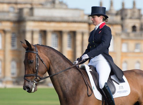 Piggy French and OBOS Cooley are in fourth place after the first dressage day.