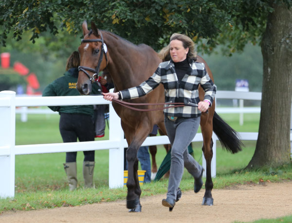 Pippa Funnell and Mirage D'Elle at the first horse inspection.