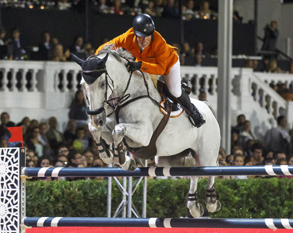 Gerco Schroder and Glock's Cognac Champblanc from the third-placed Dutch team.