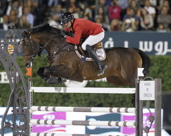 Winning Belgian team member Gregory Wathelet and Conrad de Hus also won the €200,000 clear round bonus.