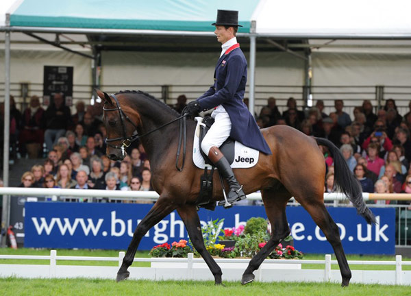 The race is on: William Fox-Pitt and Fernhill Pimms draw level with Michael Jung and FischerRocana FST after dressage at the Land Rover Burghley Horse Trials, the sixth and final leg of the FEI Classics.