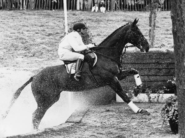 Virginia Leng (Elliot) winning her third European Championship, on t the 1985 European Championships at Burghley, on Master Craftsman at Burghley in 1989.