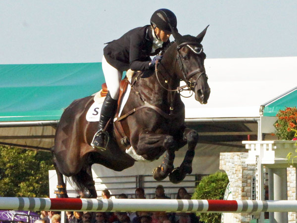 Third place at Burghley went to Jonelle Price (NZL) and Classic Moet.