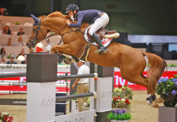 Bertram Allen and Quiet Easy 4 won the Longines Speed Challenge at the Longines Masters of Los Angeles on Friday.