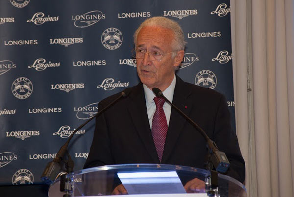 Chairman Louis Romanet at Monday's 49th Conference of the International Federation of Horseracing Authorities in Paris on Monday.