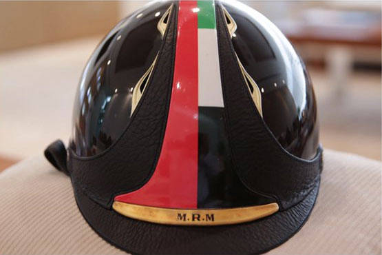 The helmet that Sheikh Mohammad wore to win the 2012 FEI World Endurance Championships has sold at a charity auction for $US6.5 million ($NZ9.95m).
