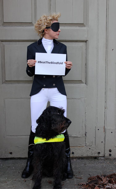 Blind dressage rider Verity Smith has launched the #BeatTheBlindfold campaign, challenging a rule change by the International Paralympic Committee.