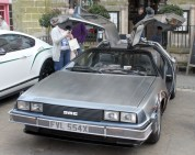 The DeLorean Back to the Future replica
