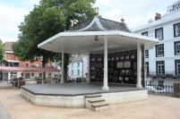 A ground level banstand in The Pantiles. Suitable for all bands including those with a fear of heights