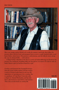 A Young Cowboy's Adventure back cover