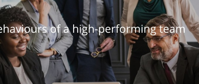 Behaviours of a high-performing team