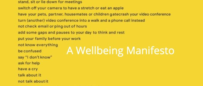 A Wellbeing Manifesto