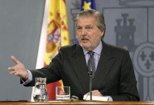 El portavoz del Gobierno, Íñigo Méndez de Vigo, en rueda de prensa tras el Consejo de Ministros
