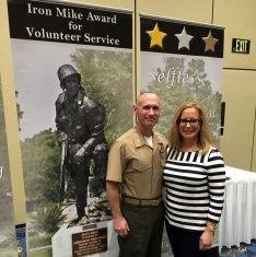 Amy Borsay, with husband, Major Peter T. Borsay, USMC