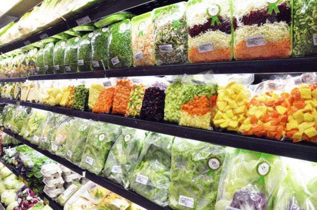 Legumes e Verduras Processados dentro do hortifruti