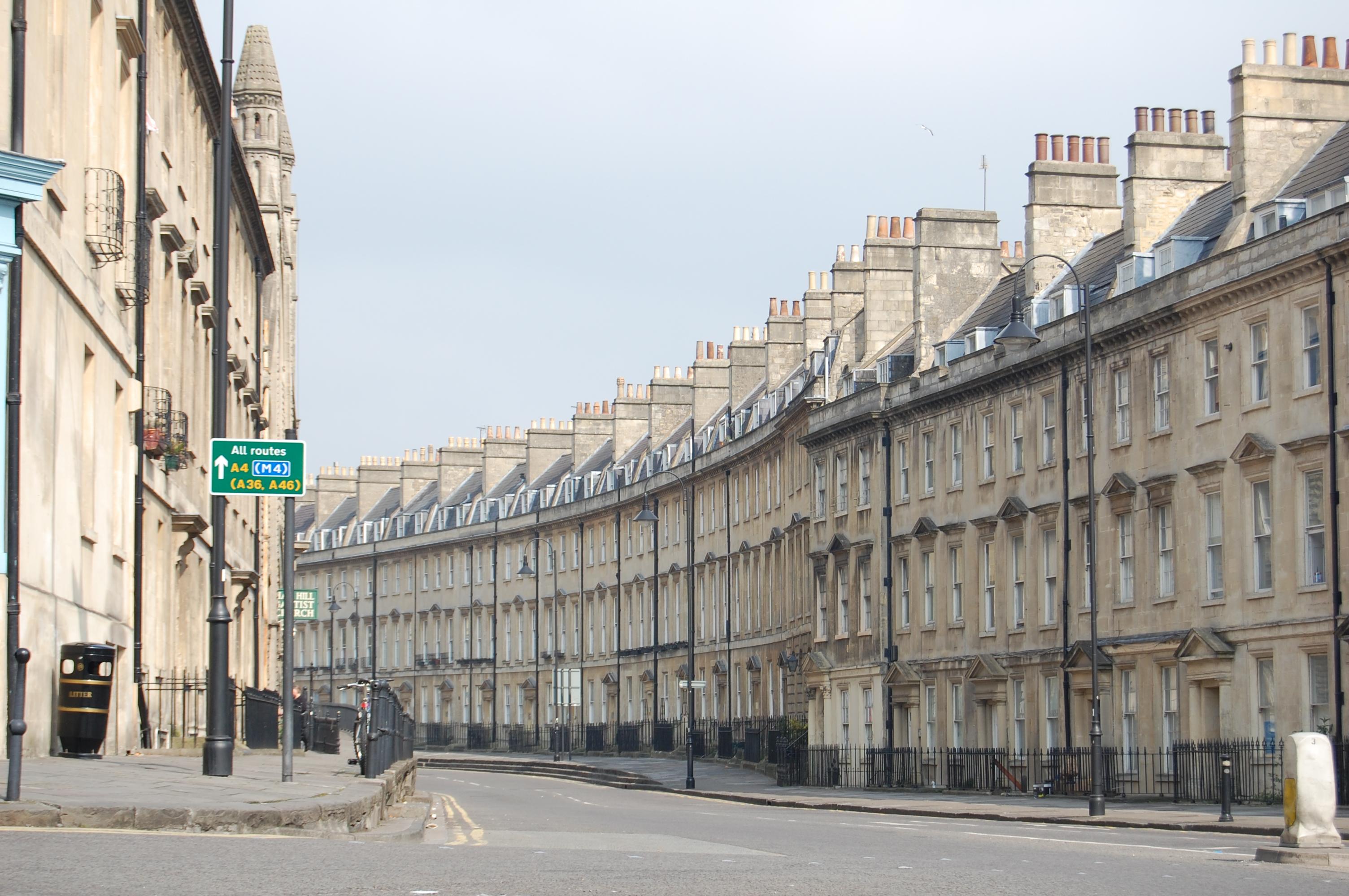 Normal street in Bath