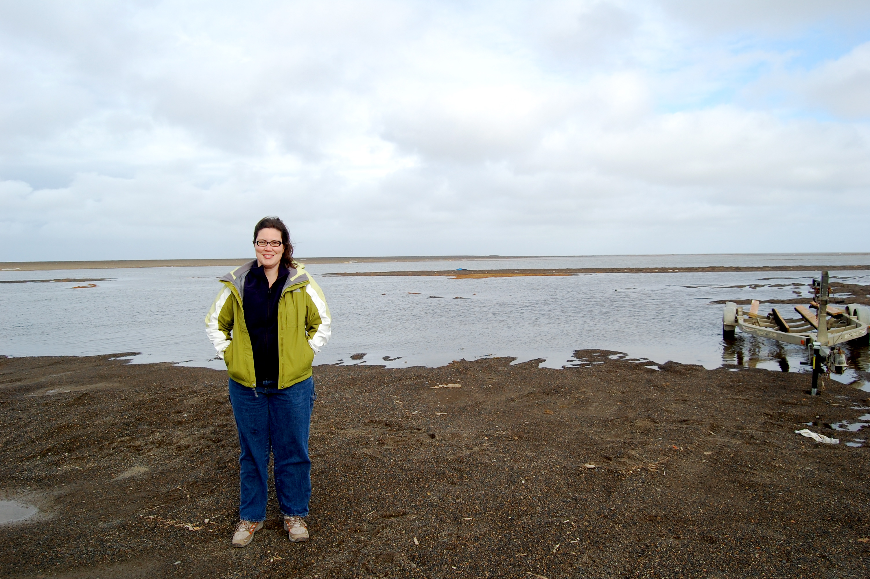 This is me out at Point Barrow, well, as close to the point as I could get without a 4-wheeler!
