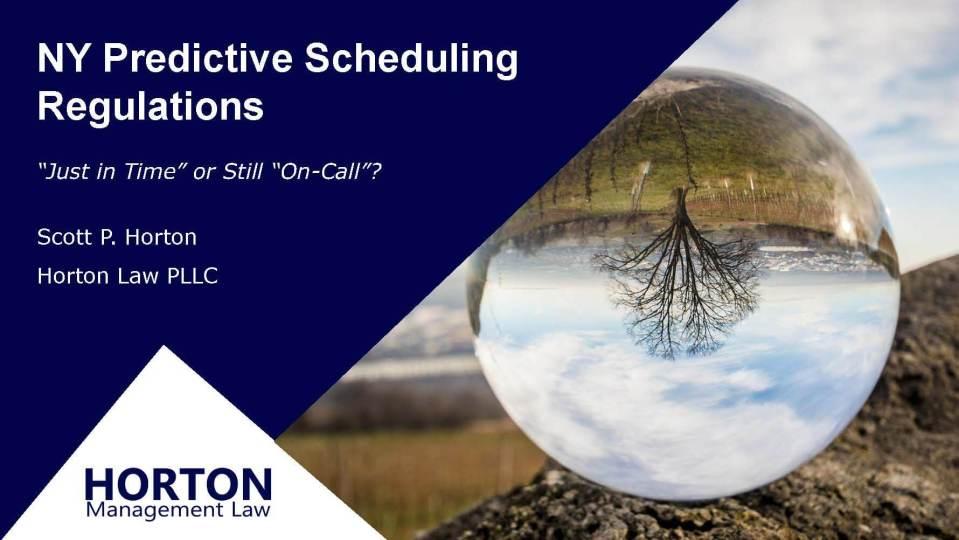 NY Predictive Scheduling Webinar