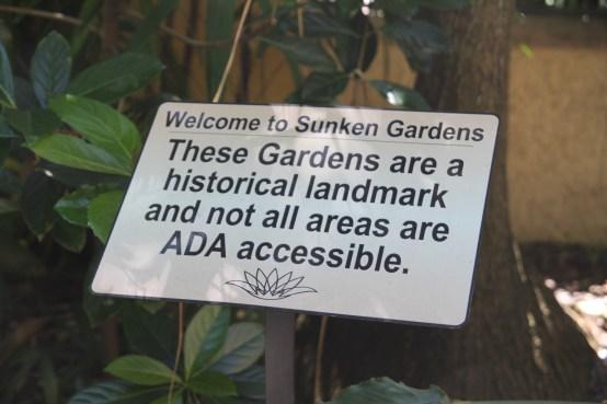Sunken Gardens is a historical landmark