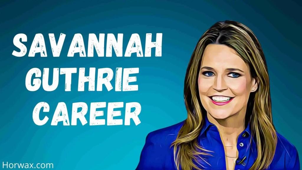 Savannah Guthrie Career