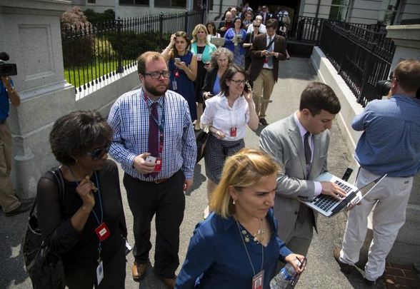 WHITE HOUSE EVACUATION – Reporters Demand Answers over Mysterious Evacuation White-house-bomb-threat