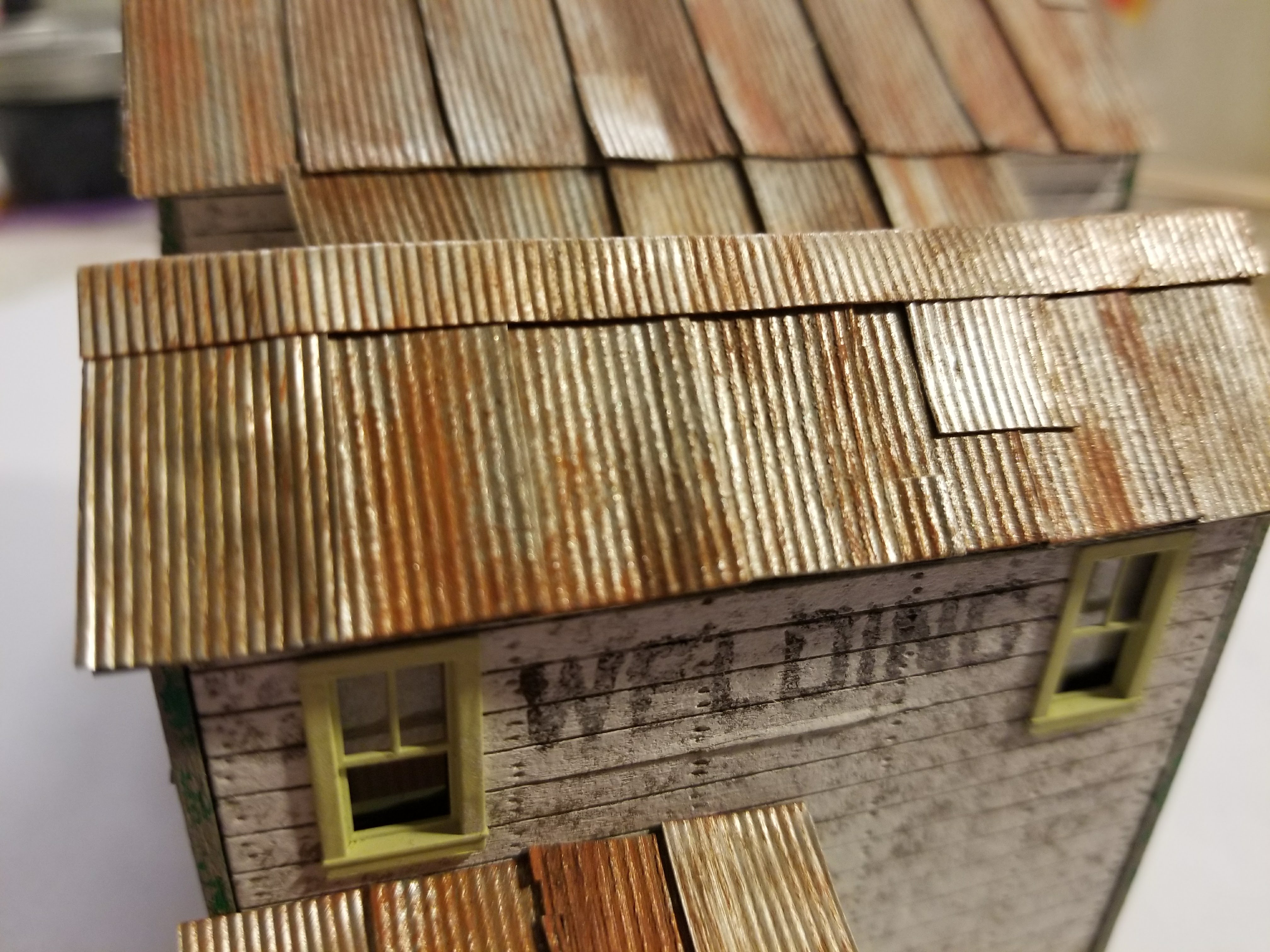 Doctor Ben's Scale Model Corrugated Roofing//Siding HO 8pcs-Metallic *Brand New!*