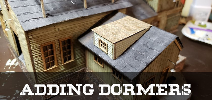 Scratch Building Dormers for Your HO Scale Model Railroad Structures