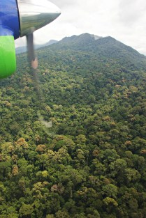 Flying over the Murud Kecil mountain range