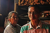 Bapa and Ibu. HOSCAP Borneo researchers have stayed at their home all through research activities in the Long Lellang site