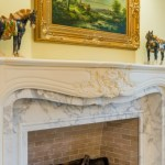 Custom fireplace mantle
