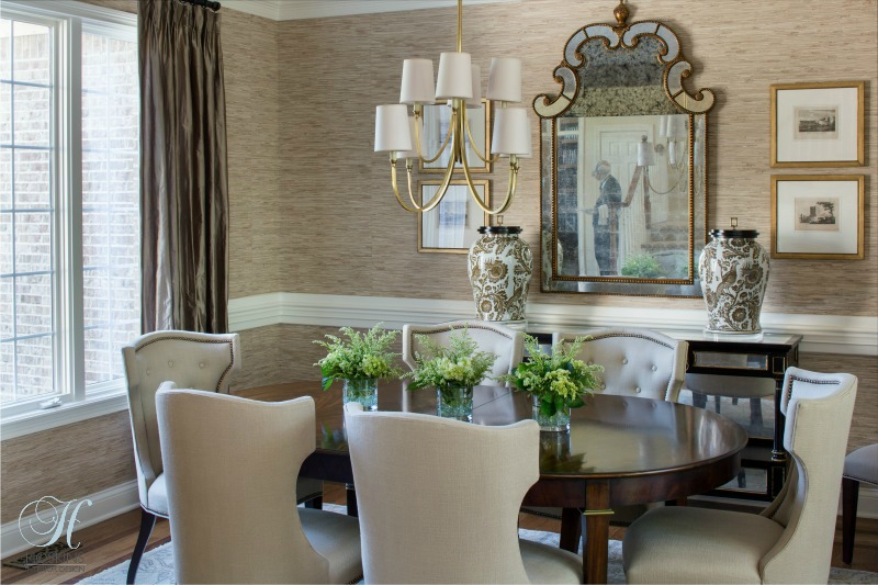 Transitional Style Dining Room Design: