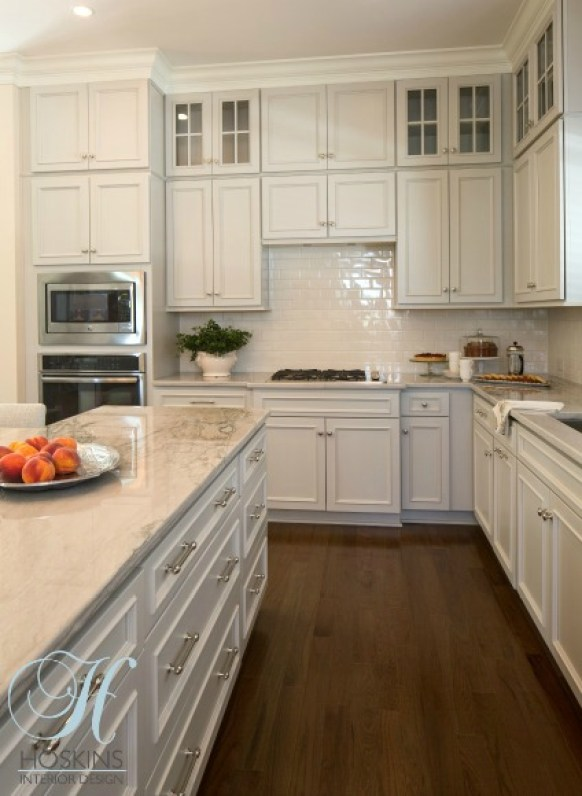 White Kitchen Cabinets and Stove Top