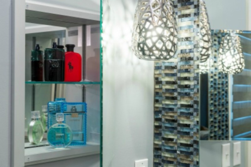 Distinct Interior Design Tip | Mirrors in Cabinets