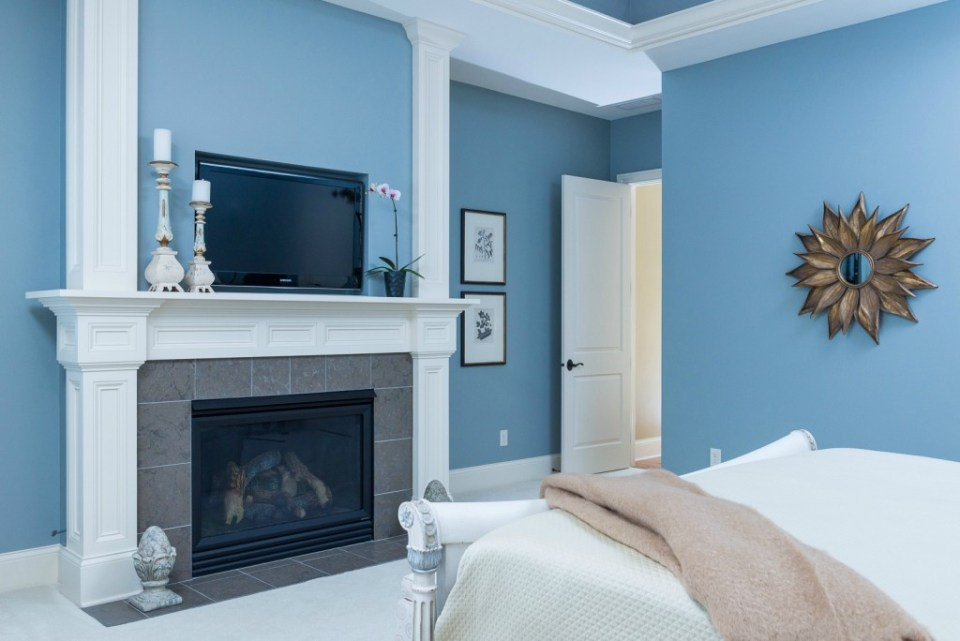 master bedroom fireplace design