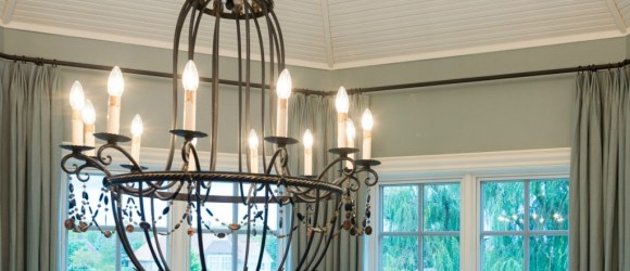 Large iron chandelier