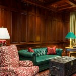 Wood Paneled Library