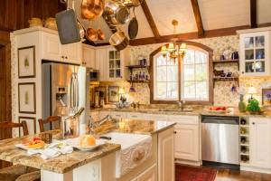 Distinctive Interior Design Tip Hanging Pots and Pans & Distinctive Interior Design Tip: Kitchen Design   HoskinsHoskins ...