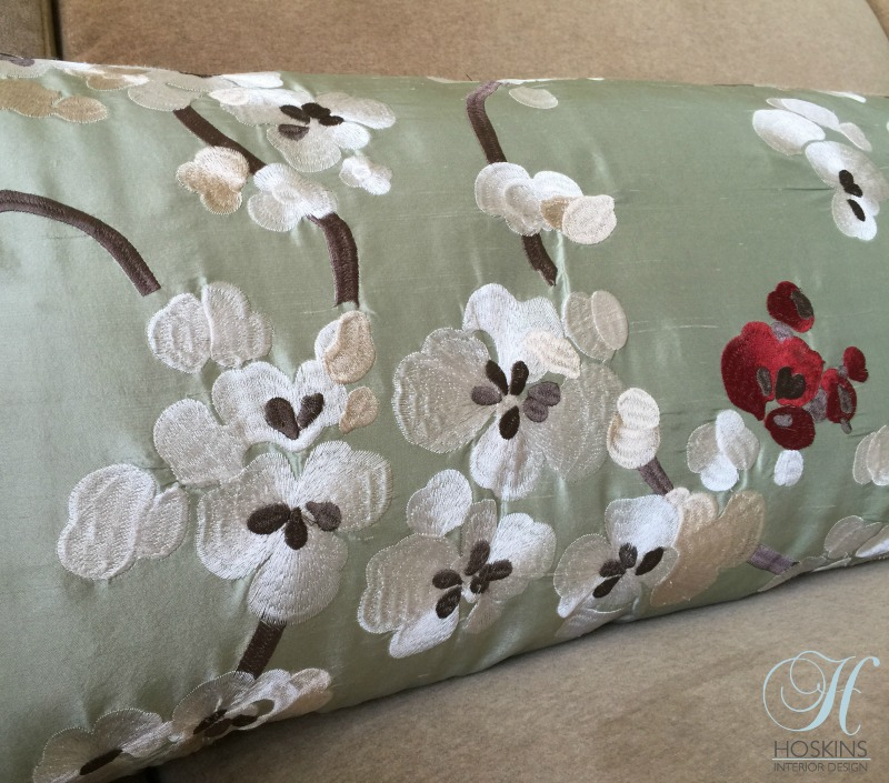 silk throw pillow interior design