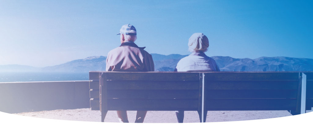 Image of a couple on a bench