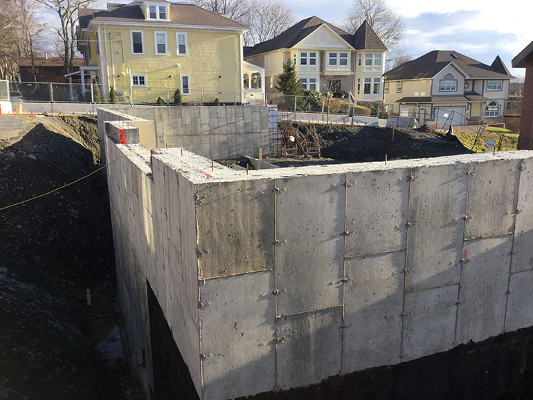 We've been laying the foundation for a hospice for years...and now it's concrete.