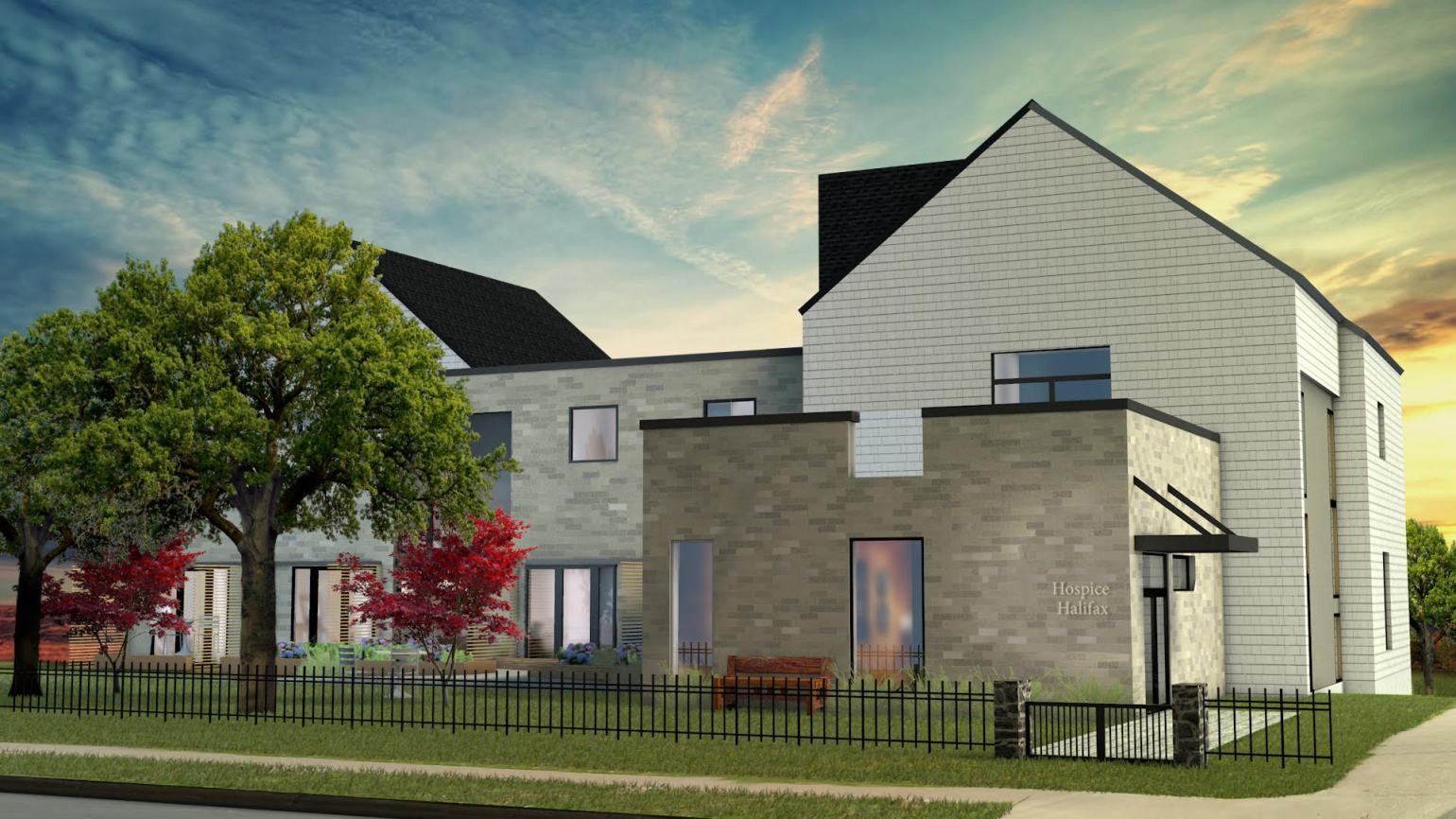 Front Rendering of Hospice Residence