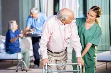 Hospice Overnight Nurse with a Patient