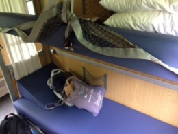 The luxury train cabin: the bed